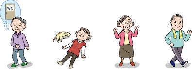 イラスト-高齢者-便秘