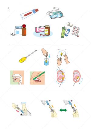 医療-飲み薬-塗り薬-粉末-口腔ケア-点滴-イラスト