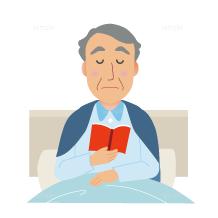 イラスト-ベッド-読書