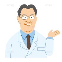 男性医師のイラスト
