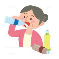 イラスト-水を飲む-たくさん