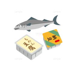 イラスト-魚-豆腐-納豆-タンパク質