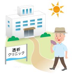 イラスト-病院に行く-高齢者