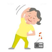 イラスト-体操-ラジオ