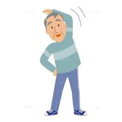 イラスト-体操-高齢者