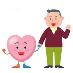 イラスト-心臓-キャラクター