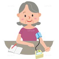 イラスト-血圧を測る