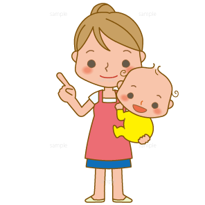 イラスト-母親-赤ちゃん