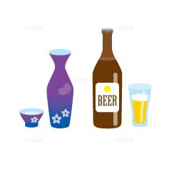 イラスト-日本酒-ビール-アルコール