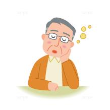 イラスト-眠気-高齢者