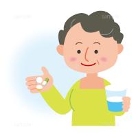 イラスト-服薬-薬を飲む