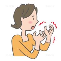 イラスト-手-痺れ-こわばる