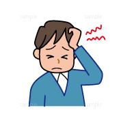 イラスト-頭痛