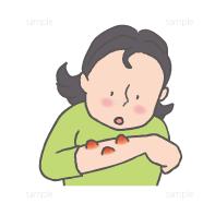 蕁麻疹あるいはかぶれのイラスト