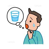 イラスト-喉が乾く