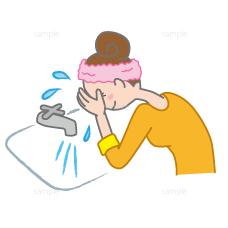 洗顔イラスト
