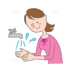 イラスト-手を洗う